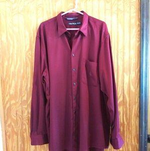Nautica Burgundy Men's Dress Shirt